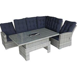 Loungegrupp med recliner - Grå
