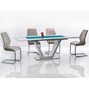 Isabela matbord - Vit/metall