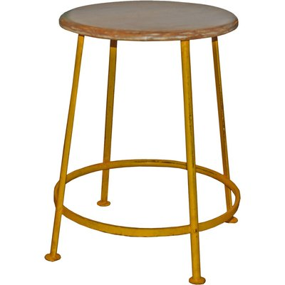 Huskvarna pall - Vintage gul/brun