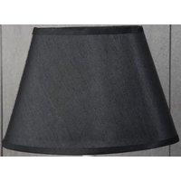 Siden oval lampskärm 25 cm - Svart