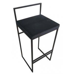 Aston barstol - Svart sammet / svart