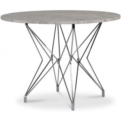 Zoo matbord Ø105 cm - Krom / Silver marmor