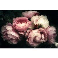 Glastavla Flowers nr 1 - 120x80 cm