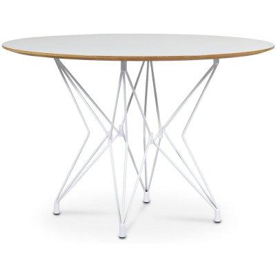 Zoo matbord Ø118 cm - Vit / Vit laminat HPL