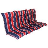 Sittdyna till hammock - Röd/blå