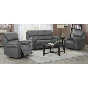 Riverdale recliner soffa 3-sits - Grå