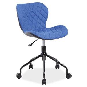 Krystal skrivbordsstol - Svart/blå
