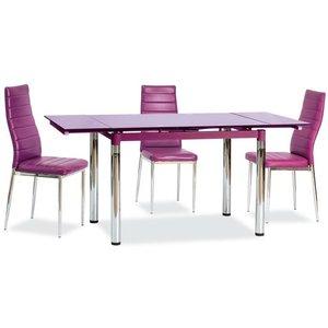 Sarai matbord - Violett/krom