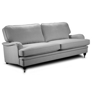 Howard Oxford 3-sits soffa 215 cm - Grå