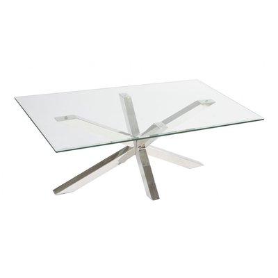 Trieste soffbord - Glas/krom