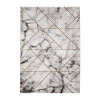 Maskinvävd matta - Craft Marble Guld