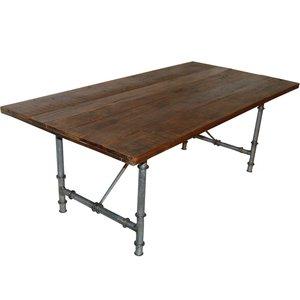 Ystad matbord 200 cm - Vintage trä/metall