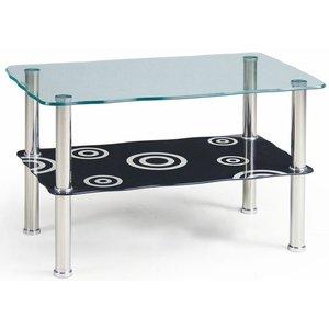 Kendyl soffbord - Svart/glas