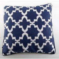 Kudde med fiberfyllning - Marinblå/vit