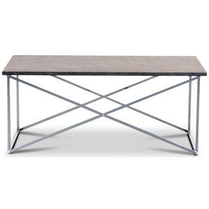 Granit soffbord 110x60 cm - Donau Granit & underrede Paladium krom