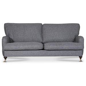 Howard Watford deluxe 3-sits rak soffa - Grå Rocco