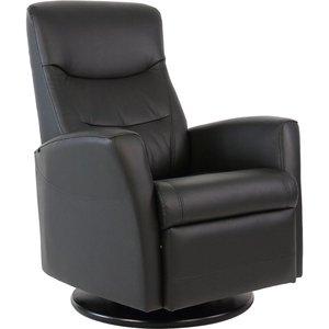 Hjellegjerde King reclinerfåtölj - Svart skinn