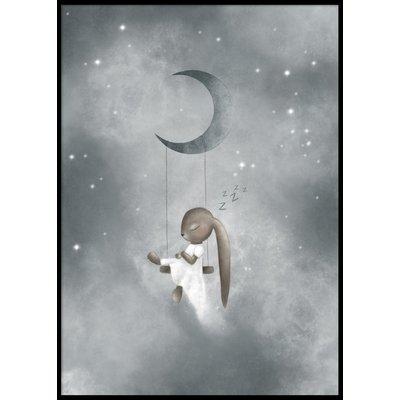 SLEEPING BUNNY - Poster 50x70 cm