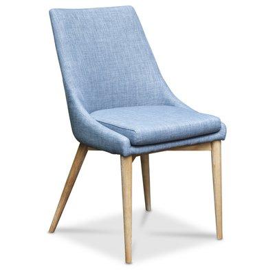 Nordli Matstol - Blå sits / Vitoljad ek