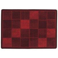 Gummerad matta Square - Röd