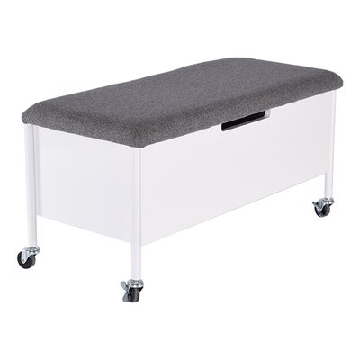 Sture sittbänk med hjul & förvaring 90 - vit