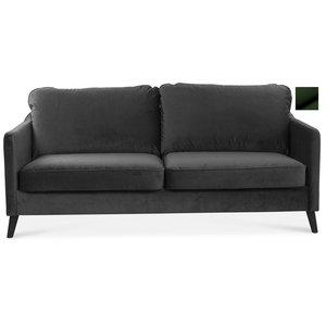 Jazz 2-sits soffa - Mörkgrön sammet