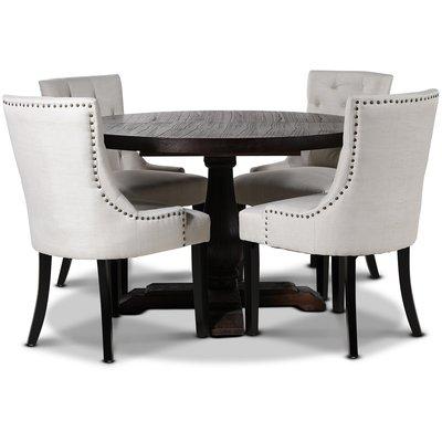 Lamier matgrupp Bord med 4 st Tuva stolar i Beige tyg