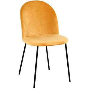 Khloe stol - Lejongult sammet
