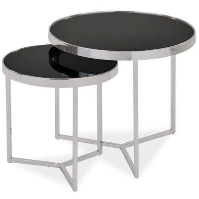Satsbord Sasha - Krom/svart