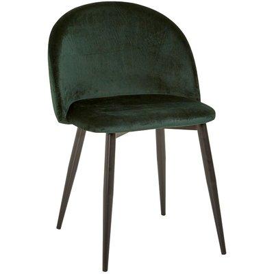 Darling stol - Mörkgrön sammet