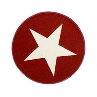 Barnmatta Gummerad Star - Röd
