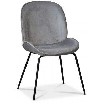 Leo stol - Grå (Sammet)/svart