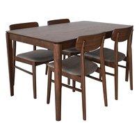Theo matgrupp valnöts utförande - bord med 4 st stolar