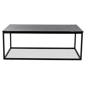 Beside soffbord - Svart marmorimitation / Svart underrede