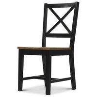 Cross stol - Svart/ekbets