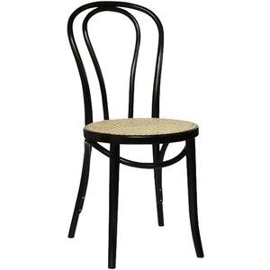 Stol No18 klassiker - svart med Rottingsits