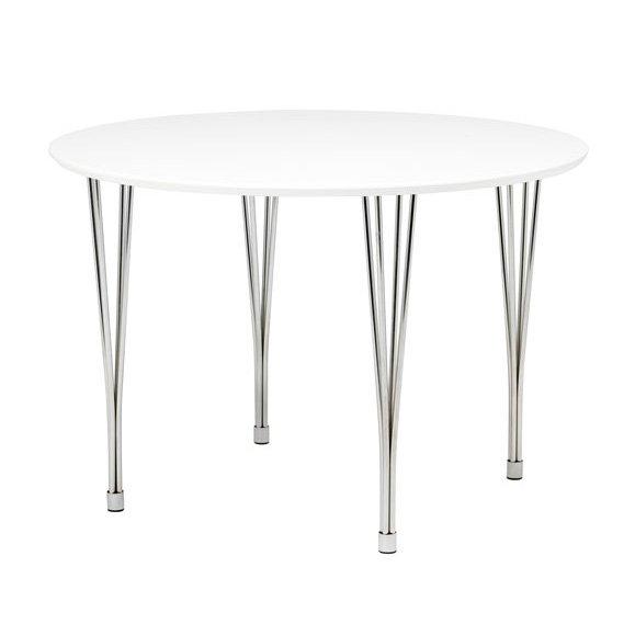 Menton runt matbord - 110cm - vit/krom - 1990 kr - Trendrum.se