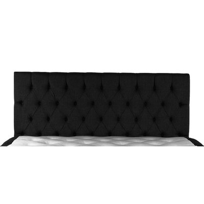 Sam sänggavel (vägghängd) 180x70 cm - Svart (Tyg)