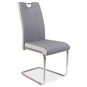Aleena stol - Grå/krom