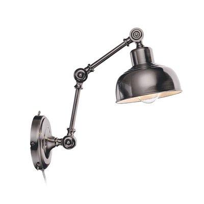 Grimstad Vägglampa - Mässing/Silver