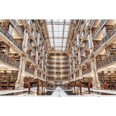 Glastavla Library - 120x80 cm