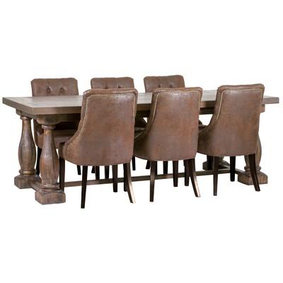 Matgrupp: Lamier matbord + 6 st Tuva europa stolar - mocca