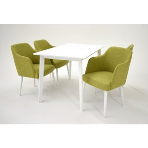 Sarek matgrupp - Bord inklusive 4 st Sarek stolar - Vit