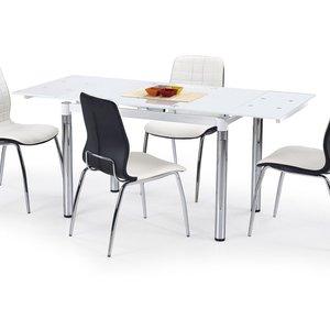 Amalie matbord 110-170 cm - Vit / Krom