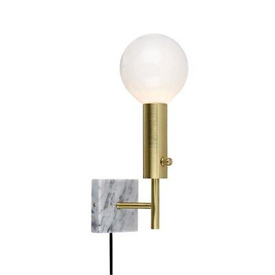 Marble Square Vägglampa - Mässing