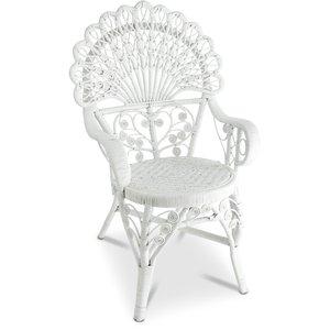 Påfågel stol - Vit
