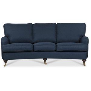 Howard Watford deluxe 4-sits svängd soffa - Blå