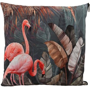 Flamingo kuddfodral 45x45 cm - Multicolor