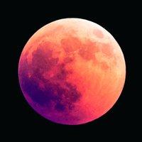 Glastavla The Moon - 80x80 cm