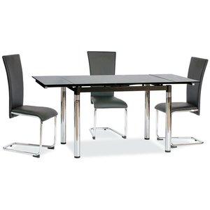 Sarai matbord - Svart/metall